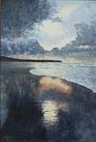 Beach, Wales by mark harris, Painting, Oil on Board