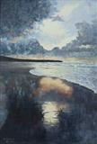 LLanrystud Beach by mark harris, Painting, Oil on canvas
