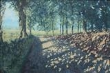 Lane, English Frankton by mark harris, Painting, Oil on Board