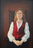 Portrait of a young lady by mark harris, Painting, Oil on canvas