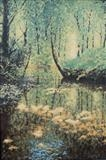 Quiet place, Shropshire by mark harris, Painting, Oil on canvas