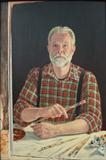 Self portrait by mark harris, Painting, Oil on Board
